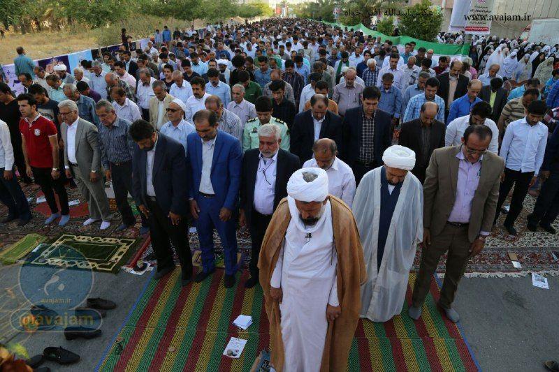 گزارش تصویری از نماز باشکوه عید سعید فطر در شهر جم