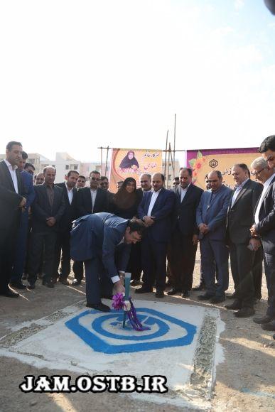 تصاویر:ساختمان درمانگاه تامین اجتماعی جم با حضور قائم مقام وزیر رفاه کلنگ زنی شد