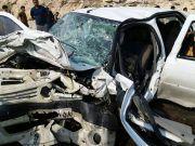 یک کشته و ۷ زخمی در حادثه تصادف جاده جم- فیروزآباد+ تصاویر