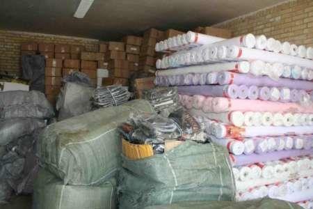 ۱۰ میلیارد ریال پارچه قاچاق در جم کشف شد